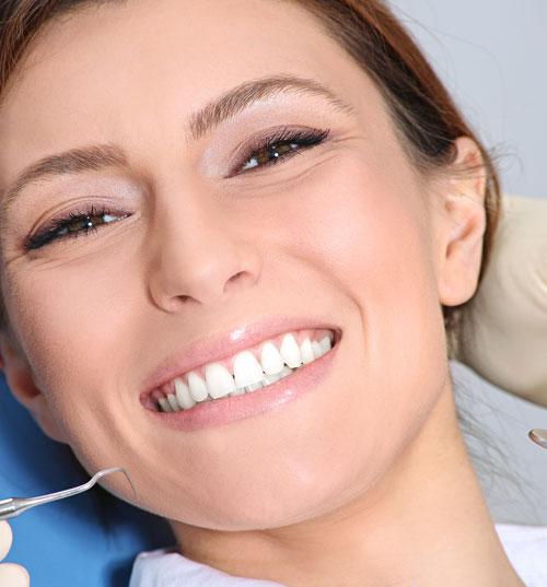 Woman at dental clinic
