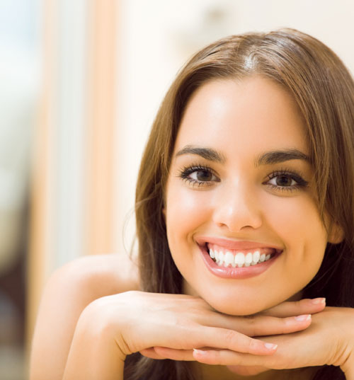 Woman with perfect smile