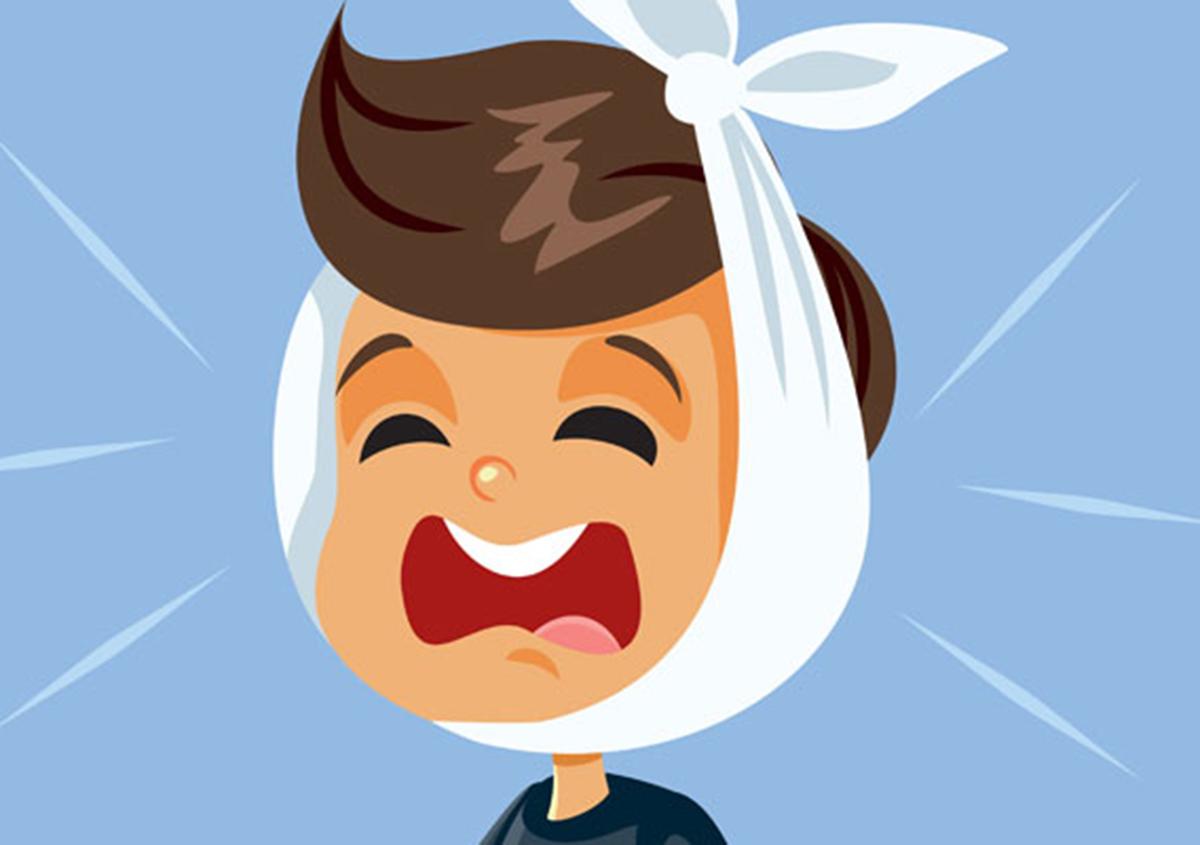 Little Boy Having a Toothache